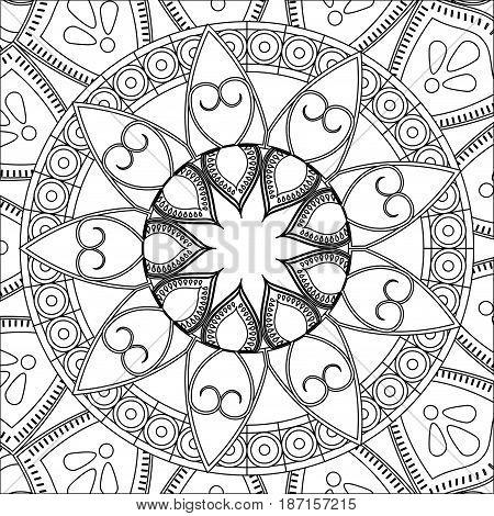 vintage mandala bohemian decoration scheme vector ilustration