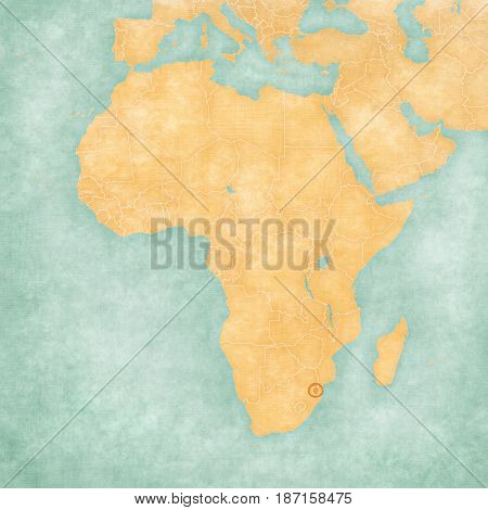 Map Of Africa - Swaziland