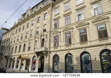 GRAZ, AUSTRIA - MARCH 20, 2017: Building of casino in Graz the capital of federal state of Styria Austria.