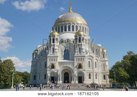 Naval St. Nicholas Cathedral of Kronstadt is the main temple of the Navy of Russia