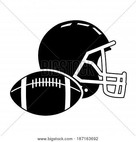 football helmet ball sport equipment image vector illustration