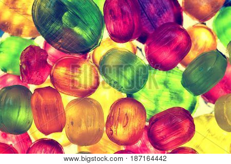 colorful background of bright candy. Abstract background of sugar candies