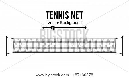 Tennis Net. Realistic Net Used In The Sport Game Of Tennis.