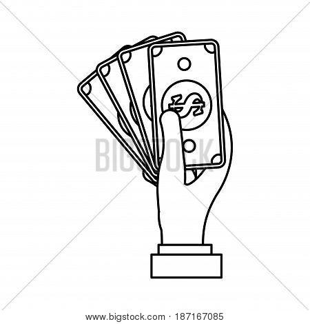 Billets moneysymbol icon vector illustration graphic design