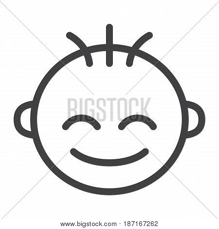 Baby boy line icon, child and infant, vector graphics, a linear pattern on a white background, eps 10.