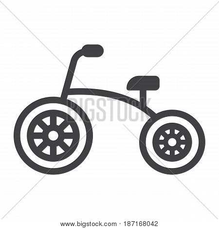 Tricycle line icon, bike and toy, vector graphics, a linear pattern on a white background, eps 10.