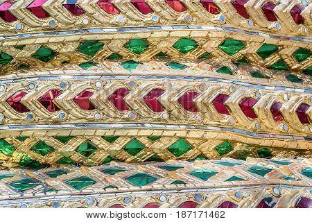 The muti colorful glass mosaic wall background.