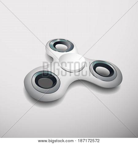 Vector illustration concept Hand spinning machine. rotation