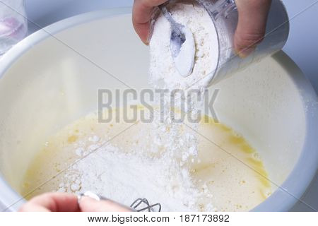 Preparation Of Biscuit Rolls. Stages Of Preparation. Dough For Biscuit.