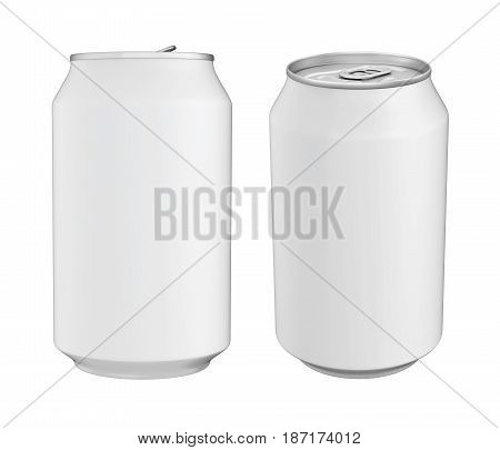 Aluminium Soda Can isolated on white background. 3D render
