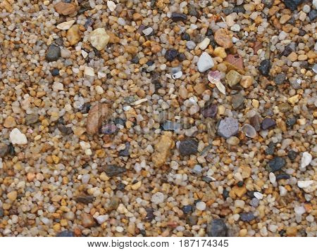 Congestion of small stones form a beautiful background