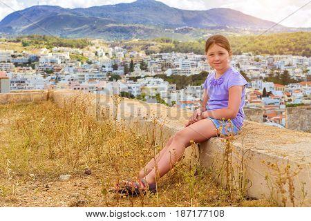 Teenage Girl In Rethymno, Crete