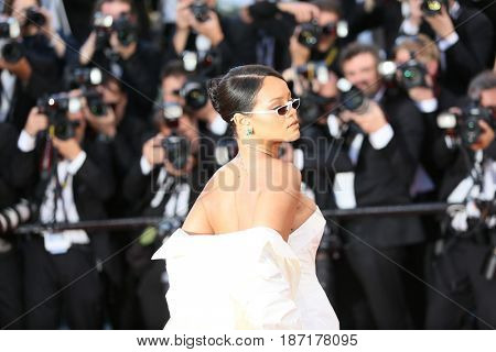 Rihanna attends the 'Okja' screening during the 70th Cannes Film Festival at Palais des Festivals on May 19, 2017 in Cannes, France.
