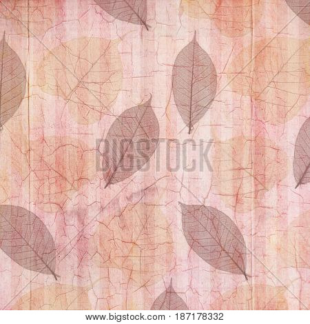Antique Rose Cracked Linen Background