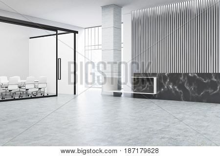Black Reception And Meeting Room