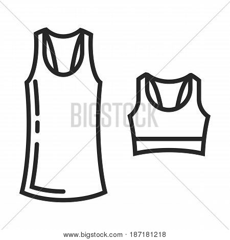 Clothes For Fitness Vector Icon