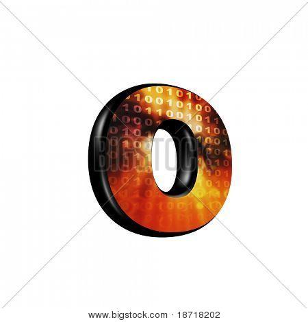 Letra 3d abstrata com textura futurista - O