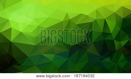 Abstract polygonal background in green shades. There is a variant in the vector.