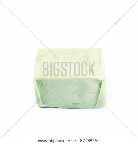 Fruit chewing candy isolated over the white background