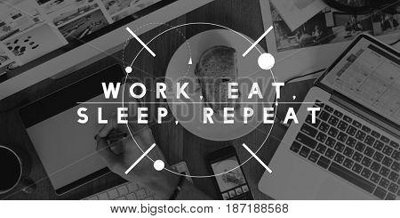 Balance Equal Health Work Eat Sleep Repeat Life