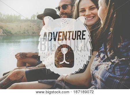People adventure outdoors bear graphic