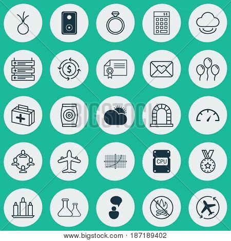Set Of 25 Universal Editable Icons. Can Be Used For Web, Mobile And App Design. Includes Elements Such As Wax, Air Ball, Plane Schedule And More.