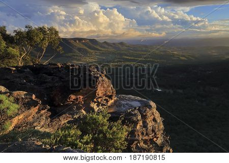 Views Over The Megalong Valley Blue Mountains Australia