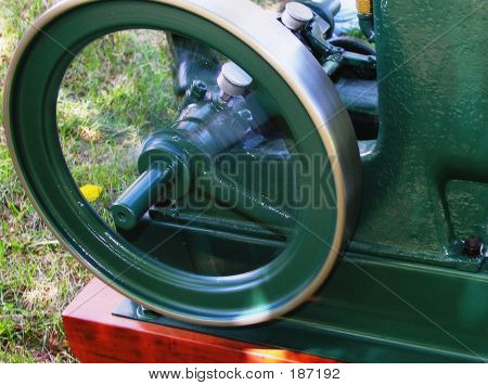 Vintage Engine Flywheel