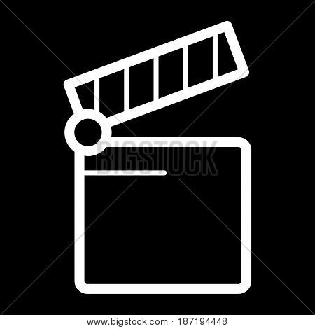 Cinema icon. Movie icon vector isolated on black. eps 10
