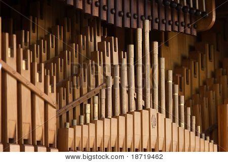barrel organ close-up