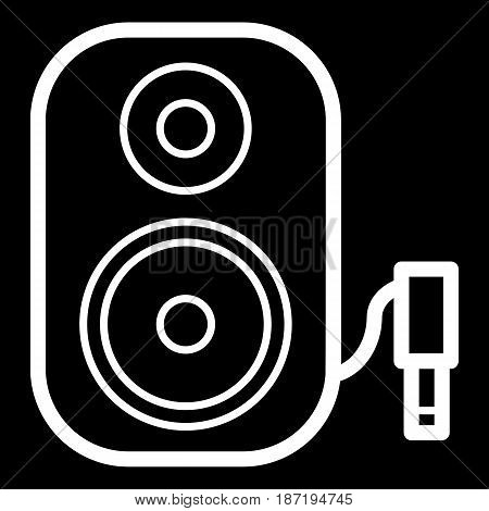 Music column audio speakers icon. Stereo music sound system cinema column. Line party element icon. Vector linear design. Illustration. Symbols, sign. eps 10
