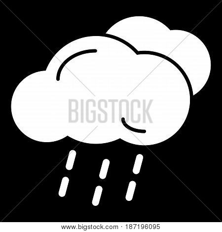 Cloud and rain isolated. Vector art. eps 10