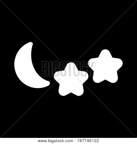 Weather forecast vector sign. The half moon. Starlight Night. eps 10