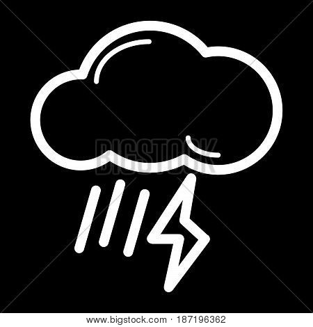 weather storm button. isolated on black. eps 10