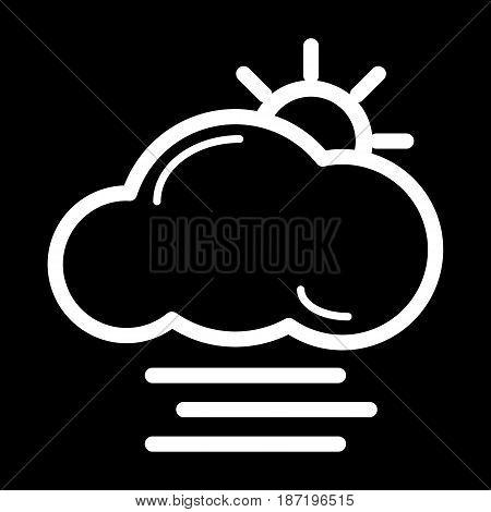 fog icon vector, solid logo, pictogram isolated on black, forecast weather symbol. eps 10