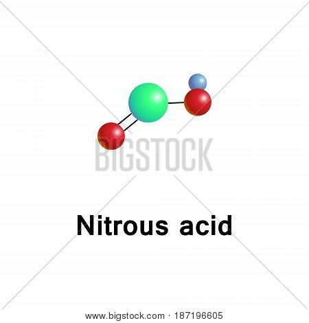 Nitrous acid, molecular formula HNO2, is a weak and monobasic acid known only in solution and in the form of nitrite salts.