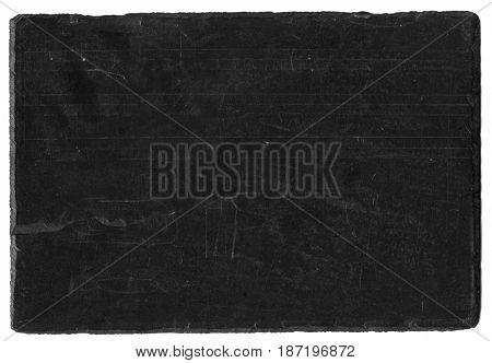 Antique slate chalkboard with lines and chiseled edges