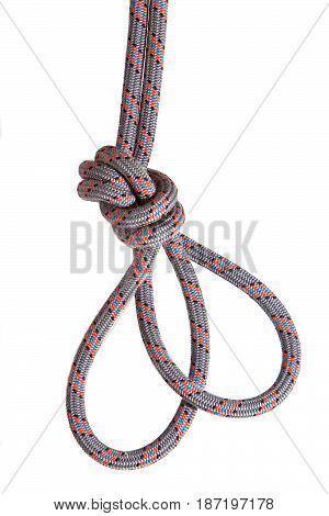 The knot on the alpinist basic rope