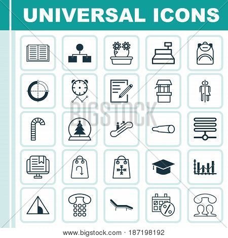 Set Of 25 Universal Editable Icons. Can Be Used For Web, Mobile And App Design. Includes Elements Such As Lollipop, Refund, Chaise Longue And More.