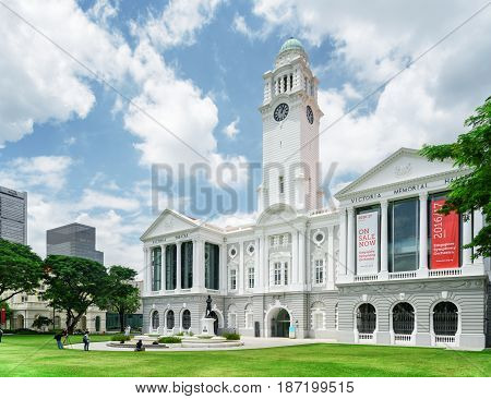 Scenic View Of The Victoria Theatre And Concert Hall, Singapore