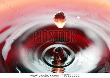 Surprisingly beautiful textural patterns on the surface of a liquid when a drop falls