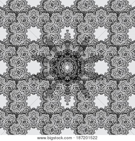Paisleys elegant floral vector seamless pattern background sketch illustration with vintage stylish beautiful modern 3d line art dim and gray paisley flowers leaves and ornaments.