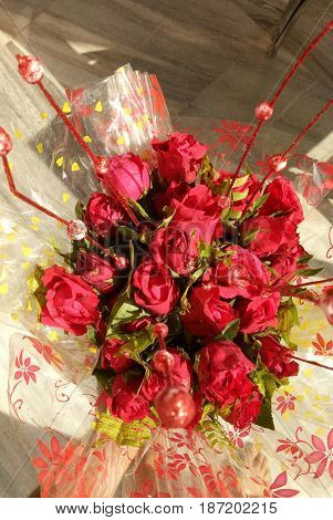 Red Rose booked with bunch of flowers