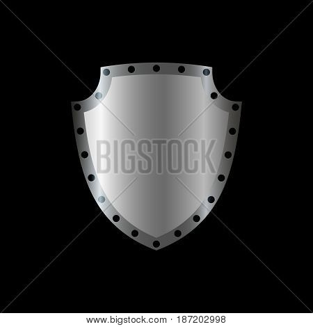 Shield Silver Gray Icon Shape Emblem
