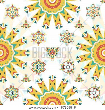 Abstract triangular polygonal shape kaleidoscope logo template circle decorative vector illustation. Kaleidoscope abstract geometry pattetrn