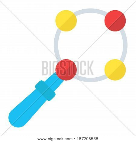 Baby rattle toy flat icon, kid and shake, vector graphics, a colorful solid pattern on a white background, eps 10.