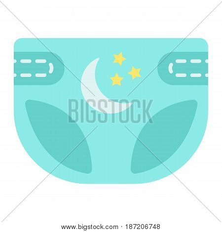 Diaper flat icon, nappy and protection, vector graphics, a colorful solid pattern on a white background, eps 10.