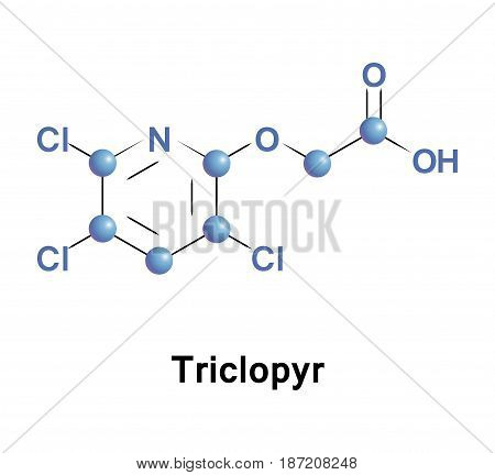 Triclopyr, trichloropyridinyloxyacetic acid, is an organic compound in the pyridine group that is used as a systemic, foliar herbicide and fungicide.