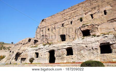 The Yungang Grottoes near Datong in China