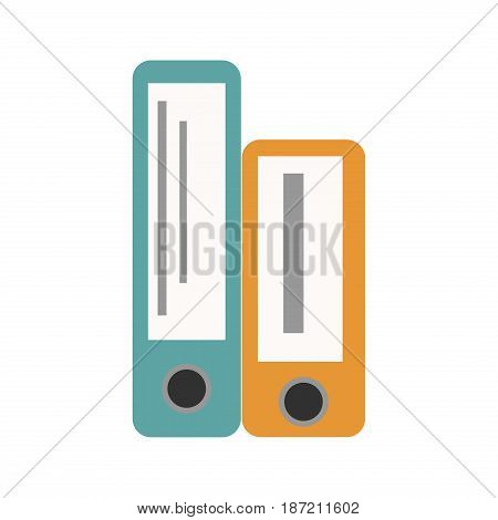 Office folders boxes document organization archive blank stack data paperwork file information vector illustration. Bureaucracy report storage stationery folder.